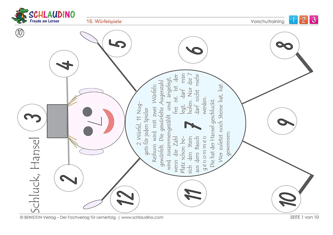 Förderprogramm für die Vorschule mit vielen Spielen und Übungsblättern