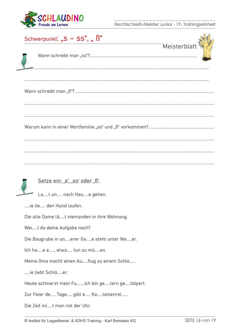 LRS-Material für die 3. und 4. Klasse - Arbeitsblätter ...