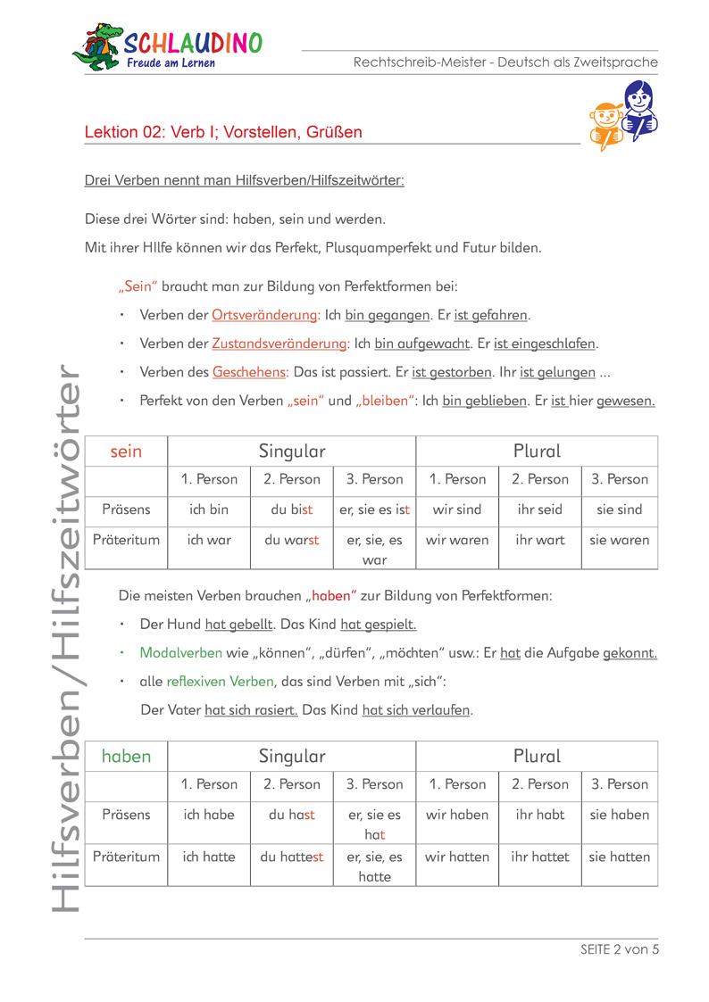 Übungen für DaZ / DaF   Arbeitsblätter u. Unterlagen zu Deutsch ...