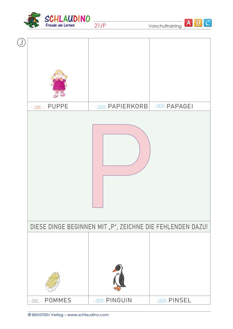 Arbeitsblätter für die Vorschule - Vorschulblätter zum Ausdrucken