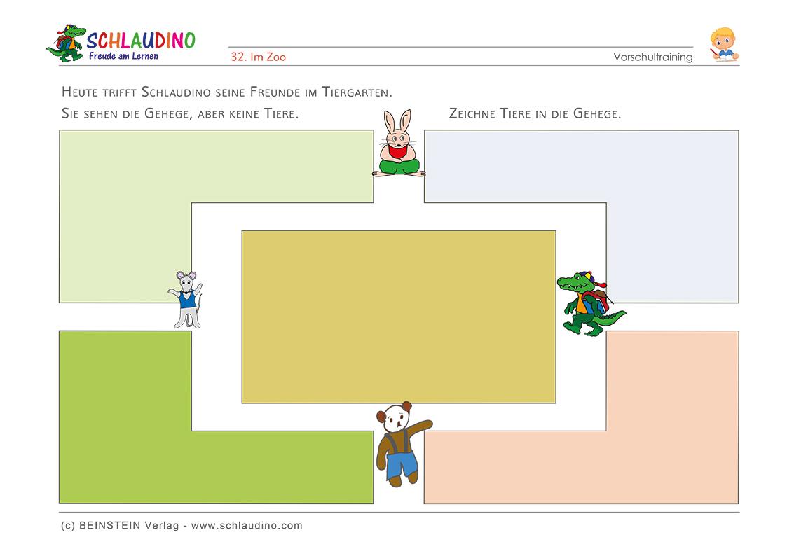 Schreibvorbereitung - Schwungübungen - Vorschule im Kindergarten